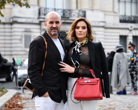 When fashion is life... but so are your kids 😆 •• FaceTime with baby girl @zurideuber between shows! (She approved our outfits lol) #parisfashionweek2018 #akris @balmain @thombrowneny #pfw #style #paris #pfw18 #rhod #parisfashion #parisstyle #carydeuber #styledbymgk http://liketk.it/2xzhd #liketkit @liketoknow.it