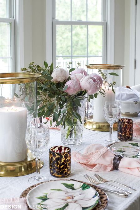 http://liketk.it/3hMAn #liketkit @liketoknow.it #LTKstyletip #LTKfamily #LTKhome COOL PLATES: MIXING ANIMAL PRINT AND SOFT FLORAL IN A TABLESCAPE