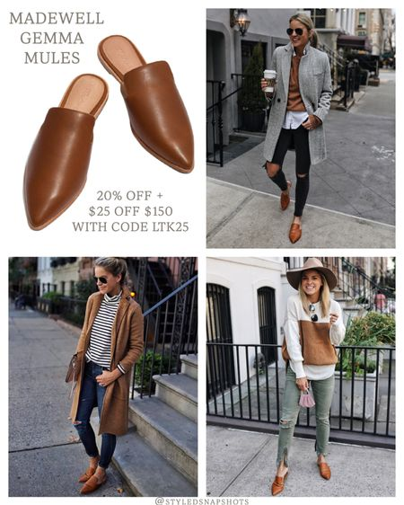 Madewell Gemma mules styled 3 ways // 20% off for insiders (free to join) + $25 off $150 with code LTK25   #LTKSale #LTKshoecrush #LTKunder100