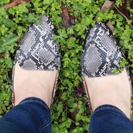 Snakeskin loafers in charcoal gray with a touch of pink.   #LTKSpringSale #LTKshoecrush #LTKsalealert