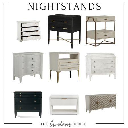 These nightstands are so gorgeous!   luxury nightstands, bedroom furniture, wayfair, perigold, restoration hardware, pottery barn, arhaus, modern Furniture,  #LTKstyletip #LTKhome #LTKSeasonal