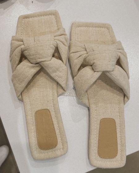 Affordable linen sandals I found at H&M😍😍  #LTKunder50 #LTKshoecrush #LTKSeasonal