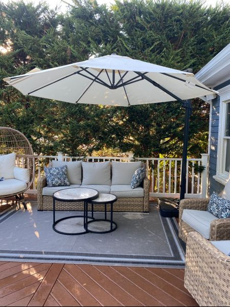 Designer look for less! My patio set is back in stock and won't last!