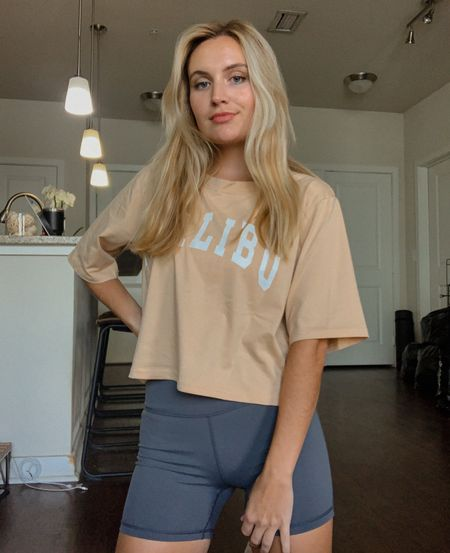 Every day cropped basic tee that's cute and affordable!  Wearing a size S  #LTKstyletip #LTKsalealert #LTKunder50