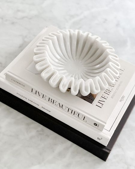"""Etsy home find! This wavy marble bowl is so beautiful! I have it in the 9"""" and 12"""" diameter. Perfect home decor item #homedecor #etsyfind  #LTKhome #LTKunder100 #LTKstyletip"""
