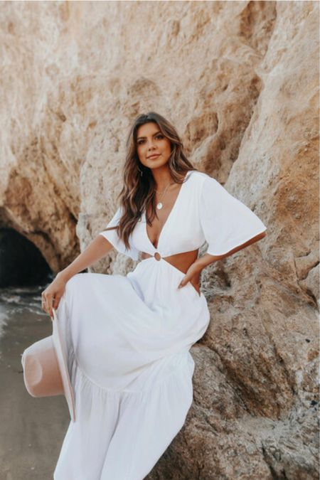 White summer dresses    #LTKstyletip #LTKSeasonal #LTKwedding