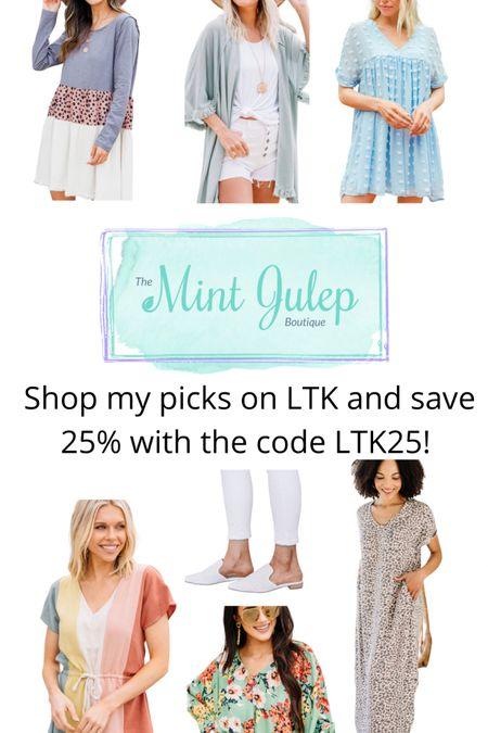 Mint Julep Boutique LTK sale! Save 25% with code LTK25!  http://liketk.it/3hmZU #liketkit #LTKDay #LTKstyletip #LTKsalealert @liketoknow.it