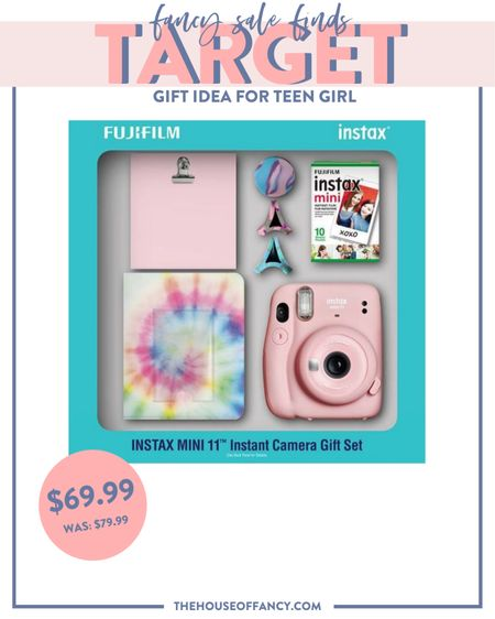 The perfect gift for the teen girls in your life! Instax mini camera with magnets so they can hang the photos right away!   #LTKGiftGuide #LTKHoliday #LTKunder100