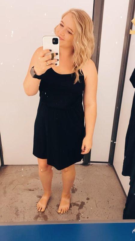 Simple little black dress from Old Navy! Lightweight and flattering. Wearing a small.     #LTKunder50 #LTKSeasonal #LTKstyletip