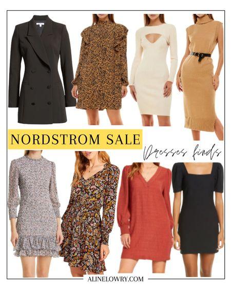 Nordstrom sale 2021 alert! 🚨  long sleeve minidress, turtleneck sweater dress, blazer dress, floral print smock mini dress, puff sleeve minidress, summer dress  #LTKsalealert #LTKSeasonal #LTKstyletip