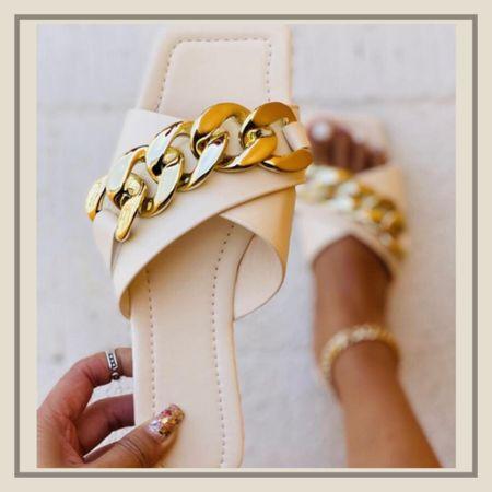 Chain decor cross band summer sandals   http://liketk.it/3idBK #liketkit @liketoknow.it #LTKshoecrush #LTKunder50 #LTKstyletip You can instantly shop my looks by following me on the LIKEtoKNOW.it shopping app
