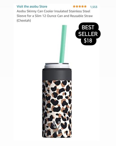 Skinny can cooler insulated / leopard / cheetah print / best seller  / Amazon  http://liketk.it/3fwIA #liketkit @liketoknow.it #LTKunder50 #LTKtravel #LTKswim