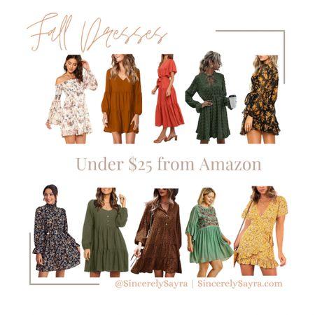 Fall dresses under $25 from Amazon!   #LTKSeasonal #LTKunder50 #LTKstyletip