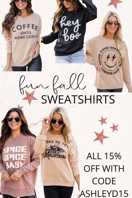 Cute fall sweatshirts!