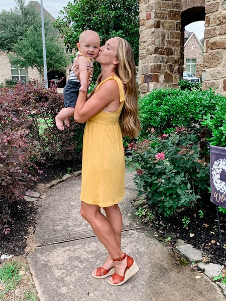 Perfect dress for summer and at only $20, it's a steal! The tie strap make it great for breastfeeding moms! Comes in 8 different colors!   http://liketk.it/3ffmH @liketoknow.it #liketkit   #LTKunder50 #LTKstyletip #LTKSeasonal