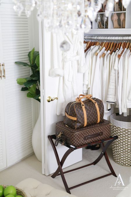 Are you Hosting overnight guests this summer? ☀️ #WalmartHome totally saved me this summer! My family traveled to visit at the last minute and I had to rush to get my house ready! I made a checklist  of home essentials such as extra bedding, luggage rack, and extra wooden hangers! I created a guest necessities sea grass basket tray for them with the cutest voluspa lychee candles and comfy terry cloth bath robe.  Read my 10 tips on how to prepare your home for overnight guests  on the blog.  #LTKtravel #LTKunder100 #LTKhome