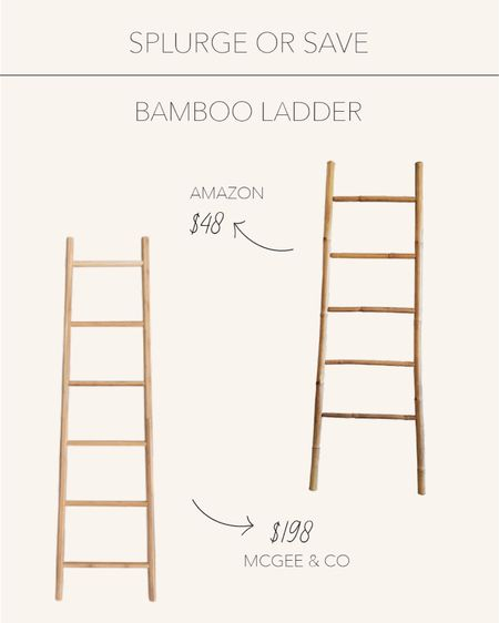 Splurge or Save | Accent ladders are the perfect detail to elevate any space   #LTKhome #LTKstyletip #LTKunder50