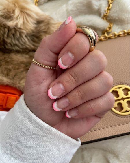 Gold rings  Tory Burch bag    #LTKitbag #LTKunder50 #LTKbeauty