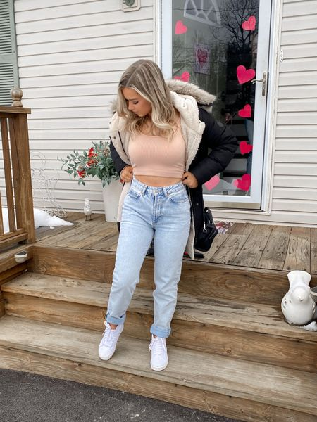 Wearing a 25 in the jeans & small on the top! Sneakers are TTS. #liketkit @liketoknow.it http://liketk.it/38zuZ