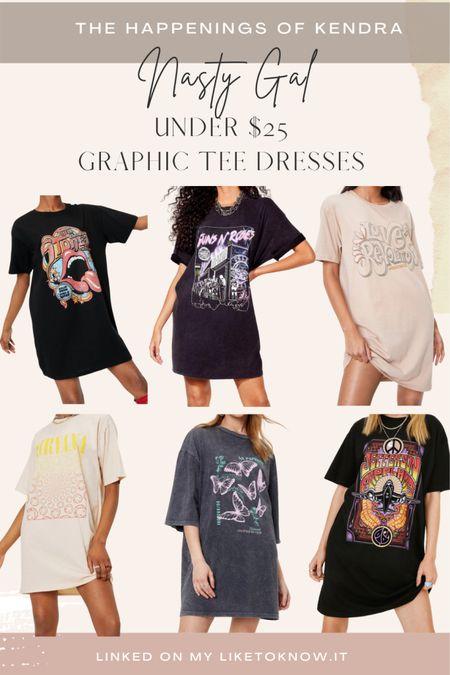 Graphic tee dresses under $25 @nastygal #ltkunder25 #LTKsalealert #LTKstyletip #LTKunder50 #liketkit http://liketk.it/3h1BU @liketoknow.it