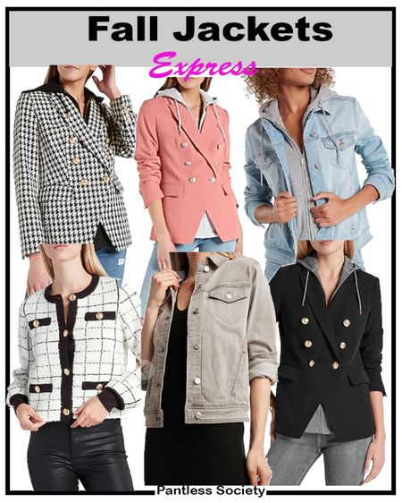 Early gifting sale. Back-to-school. Teacher outfits. Knit denim. Fall outfits. Express sale. $10 off $100. Stack your savings. XS in blazers. Fall shacket. Houndstooth blazer. Fall closet. Workwear. Pink blazer.  #LTKunder100 #LTKSale #LTKworkwear
