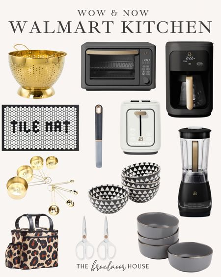 Walmarts wow and now collection is absolutely stunning! I am so in love with this tile mat from Walmart! You can rearrange the black tiles on the mat to say whatever you want! The designs are endless!  White kitchen, black kitchen, white decor, black Decor, Modern Decor, kitchen mat, kitchen rug, modern kitchen, fall decor, tile,  #LTKSeasonal #LTKhome #LTKstyletip