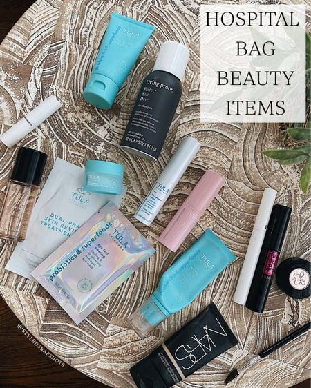 """Beauty items I'm packing in my hospital bag // Tula code KENDALL for 15% off   Tula primer shade """"Luna"""" Nars shade """"Mykonos"""" Brow Duo shade """"soft brown""""  #LTKunder50 #LTKbeauty"""