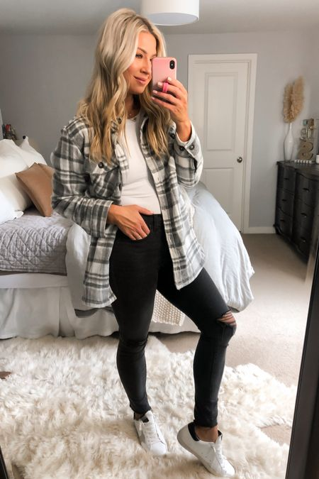 My #1 shacket rec of the season. There so many good ones that I like for different reasons. The fit and quality on this one is hard to beat for under $50. Madewell denim tts and work with soooo much   #LTKunder50 #LTKunder100 #LTKstyletip