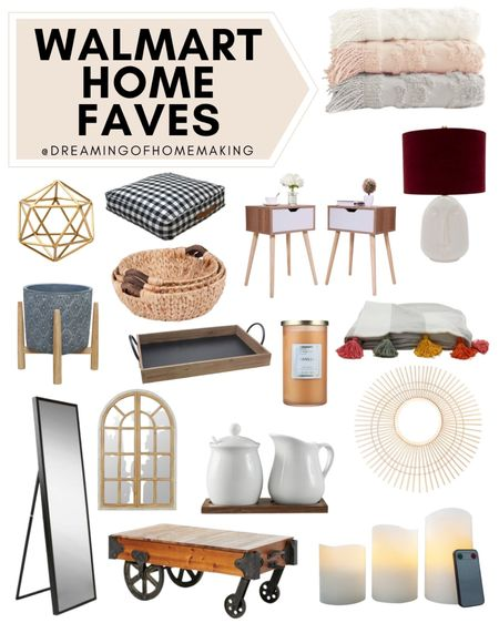 Walmart home Faves!!  Dreaming of Homemaking | #DreamingofHomemaking   #LTKhome #LTKunder50 #LTKunder100