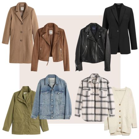 """Fall Layering Favorites 🍁 The LTK """"Early Gifting Sale"""" has started on the LTK App!  All these favorite Fall layers are on sale at Madewell, Abercrombie & Fitch and Express.  Shop this post on the@shop.ltkApp @classyyettrendy!  Everything is linked HERE ➡️ https://classyyettrendy.com/instagram-shop/    #LTKSale #LTKsalealert"""