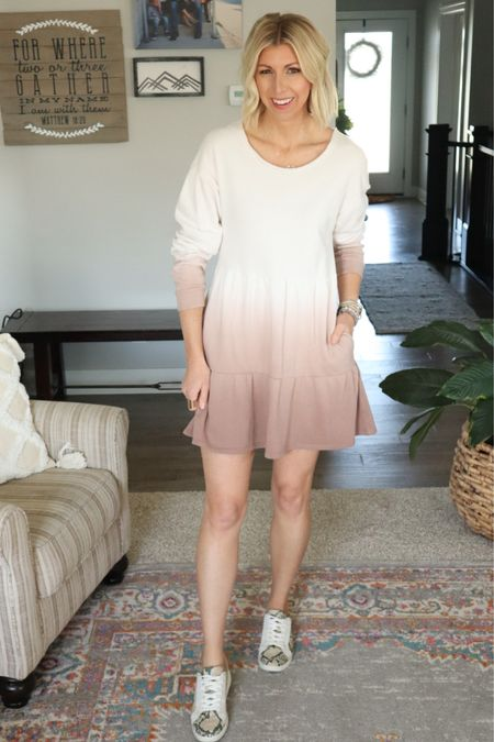 http://liketk.it/3fIOV #liketkit @liketoknow.it  Simple & effortless spring/summer outfit... A simple dress (sweatshirt or t-shirt dress) + sneakers and are #LTKstyletip #LTKunder50 #LTKshoecrush out the door!