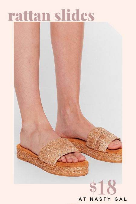 These rattan platform sandals are a must-have for summer.   Get them while they're on sale for 60% off at Nasty Gal!     http://liketk.it/2QuUV @liketoknow.it #liketkit #LTKshoecrush #LTKunder50 #LTKDay