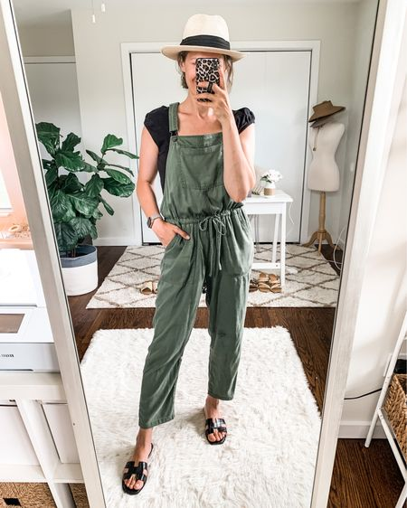 Walmart soft overalls back in stock! Fit true to size wearing small. Soft tencell cotton blend. Lightweight and so comfy with drawstring waist and lots of pockets! http://liketk.it/3jnVs #liketkit @liketoknow.it #LTKunder50 #LTKstyletip #walmartfashion