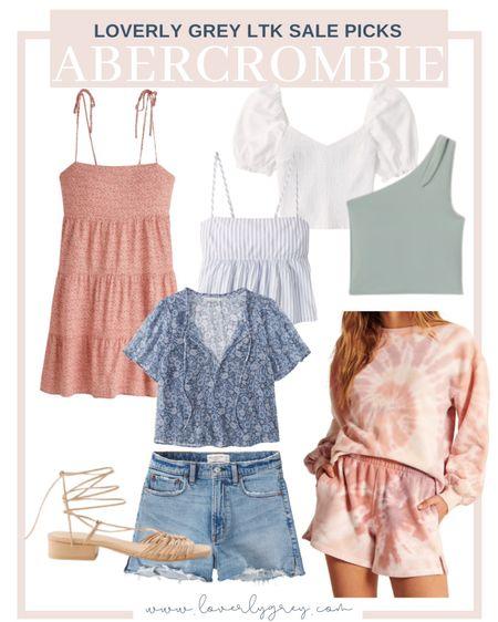 Loverly grey Abercrombie sale picks for summer! So many good summer essentials to grab, like my favorite denim shorts and easy summer dresses.   #LTKunder100 #LTKsalealert #LTKSeasonal