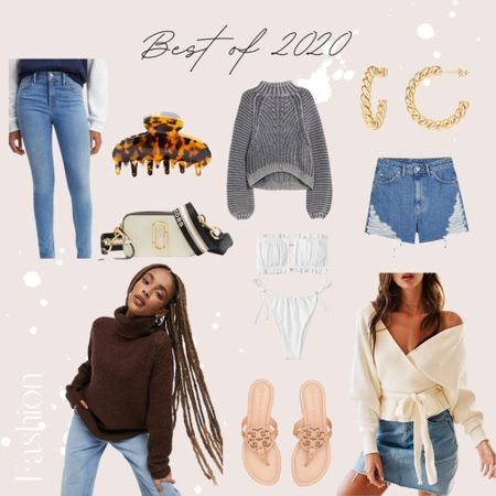 My 2020 fashion favorites! ✨ Some of my top picks this year include the Marc Jacobs snapshot camera bag, Tory Burch Miller sandals, cozy sweaters, mom jean shorts and more! 🤍 |denim, Levi's, topshop, sweater, hoop earrings, turtleneck, handbag, crossbody, shoes, amazon, amazon fashion, amazon find|  #StayHomeWithLTK #LTKNewYear