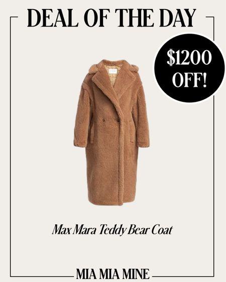 Max Mara Teddy Bear coat on sale at Cettire!  #LTKSeasonal #LTKsalealert