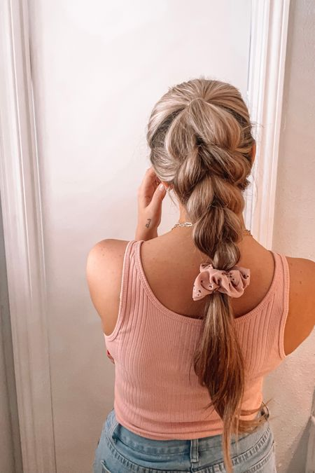 Summer braid with a scrunchie from Amazon!    http://liketk.it/3i0m5 #liketkit @liketoknow.it #LTKstyletip #LTKbeauty #LTKunder50
