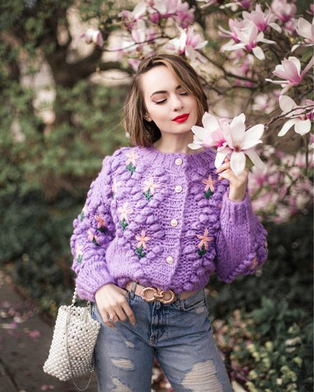 FLORAL KNITS styled in 2 ways - which one is your fav? 🌸  Find this chunky cardigan by @chicwish via the link in bio: http://liketk.it/3eeqn   #stylesprinterlooks #chicwish #floralsforspring #lilaclover #springcolors #liveincolor #tulleskirt #theeverygirl #livecolorfully #springstyle #stylesprinter #stylehunter #inspiredbyinstyle #cherryblossomseason #cherryblossom #cherryblossoms #springseason #springishere #springinnyc #springdresses #liketkit @liketoknow.it #LTKunder100 photo by @channel.nyc