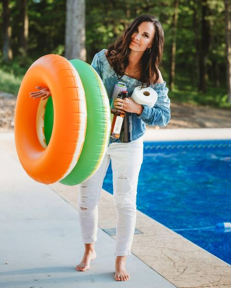 We had my favorite photographer @dos1245 come over the other day and snap some pics for us to remember all of the big life changing things that have happened in our family lately! This one she took cracks me up 🤪 I'm so happy and relieved to finally have the pool open, distance learning done, homeschool done, and the state opening back up! Things are feeling a lot less stressful and a lot more fun! http://liketk.it/2Q9DI #liketkit @liketoknow.it