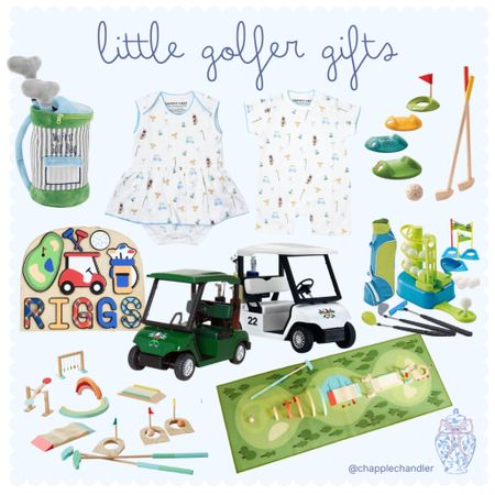 Golf gifts for kids ⛳️🏌🏽♂️🏌🏻♀️ Little golfer Christmas gifts baby toddler kid child girl boy clothing outfit jammies toys Hanukah gifts golf toy golf cart golf set golf clubs children children's toys personalized custom puzzle   #LTKGiftGuide #LTKunder50 #LTKkids