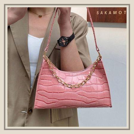 Chain decor croc embossed purse  #LTKitbag #LTKstyletip #LTKunder50