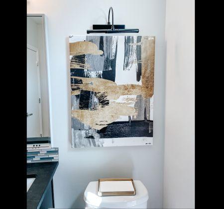 Modern bathroom decor. Abstract canvas. Picture light   #LTKstyletip #LTKhome