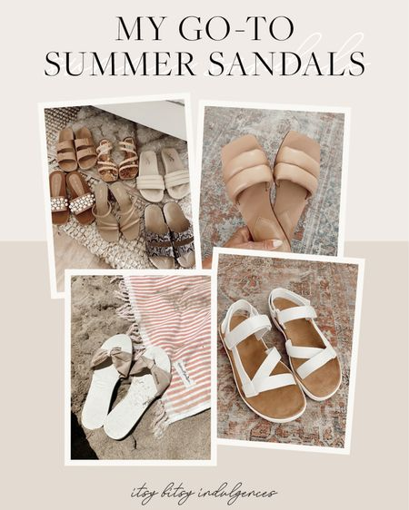 My go to sandals for the summer season //     #LTKshoecrush