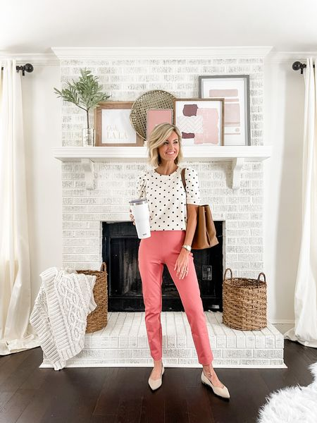 For a teacher work wear outfit pair a polka dot sweater with colored dress pants. I'm wearing an XS,fits TTS.   #LTKworkwear #LTKstyletip #LTKunder100