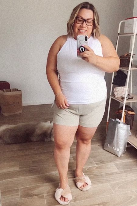 Athleta try on haul. They have great pieces for working out, work, sleep and lounging.   Plus size fashion, end of summer travel, workout outfits, work outfits  #LTKstyletip #LTKfit #LTKcurves