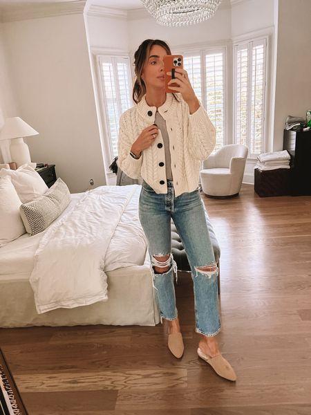 Agolde Jeans, OOTD, Fall Style, Mules, iPhone Case  #LTKbeauty #LTKstyletip