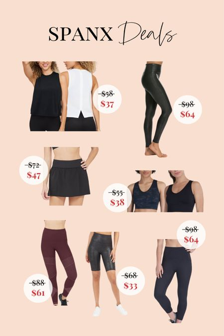 Cute activewear from SPANX are on sale right now! Linking a ton of my favorites down below to shop.  #LTKsalealert #LTKfit #LTKunder100
