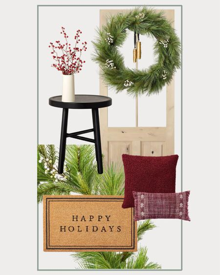 Target holiday front porch, holiday decor, front porch decorations     #LTKHoliday #LTKSeasonal #LTKhome