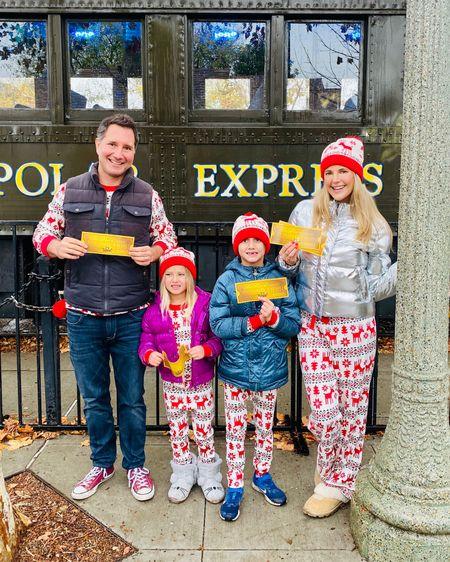 Matching Christmas pajamas & bright fun winter jackets make the seasons bright 🎄🎅🏻  #matchymatchy #matchingpajamas #christmaspajamas #winterjacket #metallic #metallics #metallicjacket http://liketk.it/2HFPO #liketkit @liketoknow.it