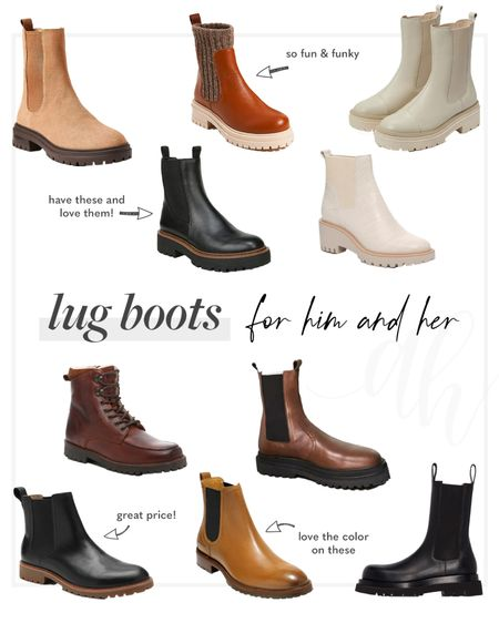 Lug boots for fall, Chelsea boots , boots for him, cooler weather shoes   #LTKstyletip #LTKshoecrush #LTKSeasonal